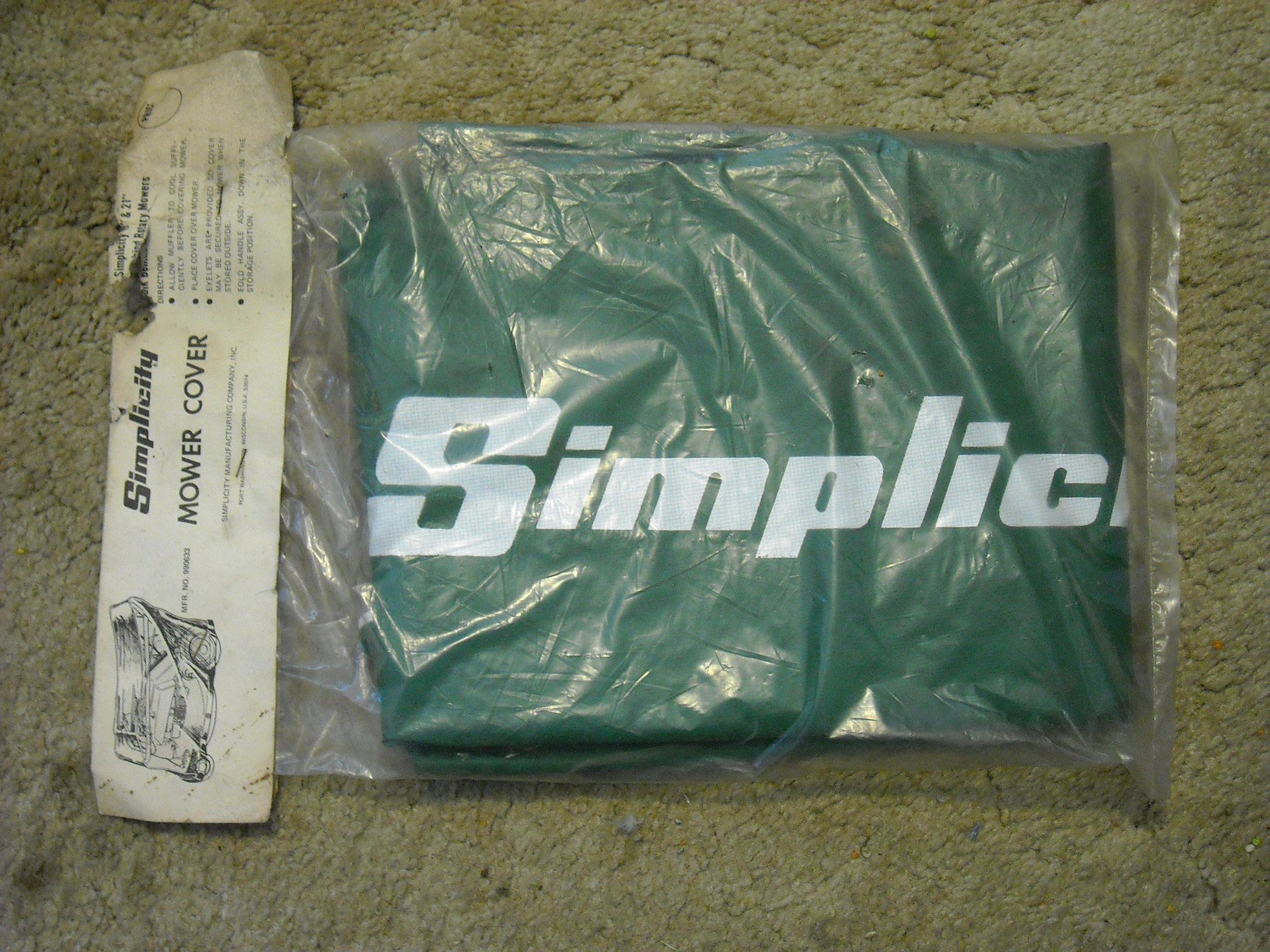 Joseph J Nemes Sons Parts Ac Simplicity Bs Cub Cadet Tractor Wiring Diagram 1692593 990633 Cover For Walk Behind Mower Must Fold Handle Down To Use New 30